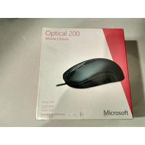 Mouse Óptico Usb Com Fio Microsoft Optical 200 Souris