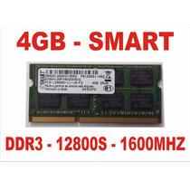 Memória 4gb 12800s Smart Ddr3 Notebook - Frete Grátis !