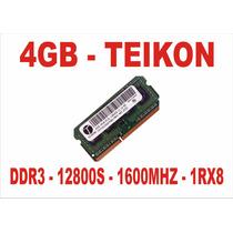 Memória 4gb 12800s Teikon Ddr3 Notebook 1600mhz