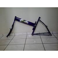 Quadro De Bicicleta Tipo Maria Mole Cor Violeta