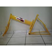 Quadro De Bicicleta Tipo Maria Mole Cor Amarelo