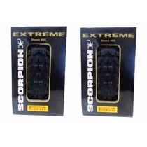 Par Pneu Pirelli 26x2.35 Scorpion Extreme Bike Dh Kevlar Aps