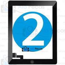 Tela Vidro Touch Ipad 2 + Home + Adesivo - A1395 A1396 A1397