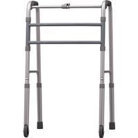 Andador P Idoso Em Aluminio, Fixo Com Rodas - Mercur