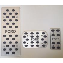 Pedaleiras Ford Focus,fiesta,fusion Alumínio Escovado Kit At
