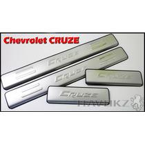 Soleira Em Aço Inox Chevrolet Cruze