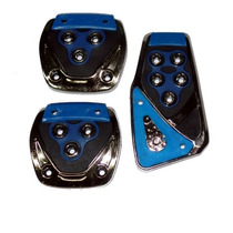 Pedaleiras Esportivas Automotivas Azul Tuning Kit 3 Peças