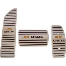 Pedaleiras + Descanso Aço Inox Premium Chevrolet Cruze !!!