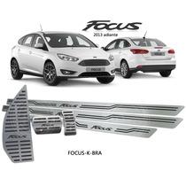 Kit Soleiras Pedaleiras Descanso Inox Focus 2013 Automático