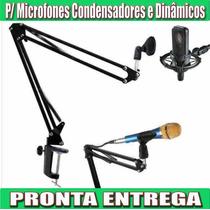 Pedestal Articulado De Mesa Para Microfones De Estudio