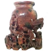Antigo Vaso Chinês Em Pedra Dura .
