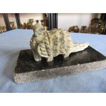 Escultura Tatu De Pedra Base Granito Abaixo Descrição Comple