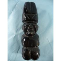 Escultura Em Pedra Obsidiana - Xamã - Antiga