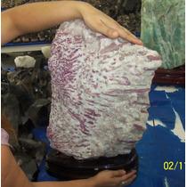 Gigante Turmalina Rosa Sobre Cristais 45kgs - Impressionante