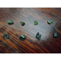 Lote De 8 Turmalina Verde Naturais Brutas - Transparentes