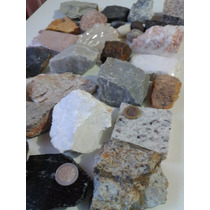 Coleção De Rochas/pedras E Minerais Com 30 Unidades