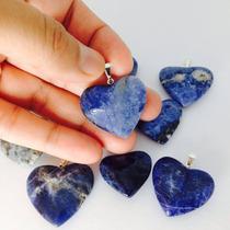 Pingente Coração Pedras Cristal Ametista Quatzo