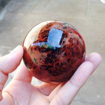 Esfera Bola De Pedra Obsidiana Maragony Ou Mogno Coleção