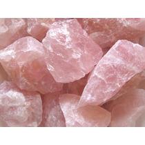 Pedra Cristal Quartzo Rosa Bruto Mineral 1/2 Kilo