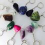 Chaveiros De Pedras Preciosas Varias Pedras Coleção Mineral