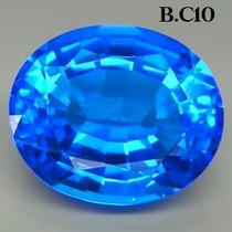 1 Excelente Lindo Oval Quartzo Azul Centáurea 14,15 Cts.