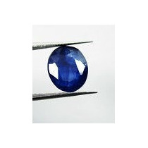 Elegante Safira Azul Oval 4,20 Cts. Pedra Natural.