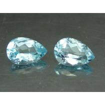 Belíssimo Par De Água Marinha Azul Gota Extra 3 Ct