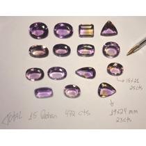 Ametista Lote Com 15 Pedras Grandes Peso 475 Cts 95 Gramas