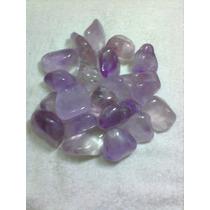 Pedra Ametista Original Rolada 4 Cm
