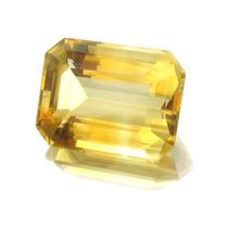 Pedra Preciosa Citrino Amarelo Lapidaçao Esmeralda J10882