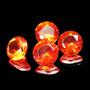 4 Opalas De Fogo Mexico Limpas 3.70 Cts , Com Garantia