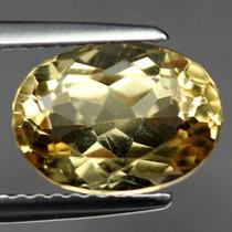 Joalheriavip 2.31ct. Citrino Amarelo Oval 100% Natural Vvs1
