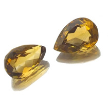 Par Pedras Preciosas Citrinos Rio Grande Lapidadas J13504
