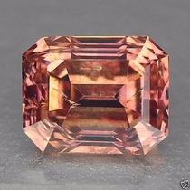 Diamante 0.37ct - Rosa Salmão - Si1 - Lapidação Esmeralda...