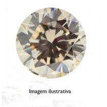 Diamante 0.23ct - Marrom - Si1 - Lapidação Brilhante
