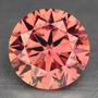 Diamante 0.31ct - Rosa-salmão - Si1 - Lapidação Brilhant...