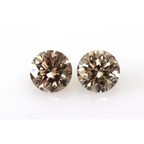Lindo Par Diamantes Chocolate 28 Pts Vs1 !