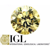 Diamante 0.32ct - Amarelo - Vs1 - Certificado Igl