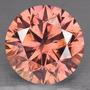 Diamante 0.11ct - Rosa-salmão - Vs - Lapidação Brilhante...