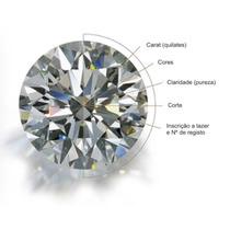 Diamante Natural 0,58 Ct. Certificado Gia Internacional.