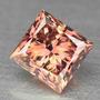 Diamante 0.32ct - Rosa-salmão - Si1 - Lapidação Carré