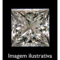 Diamante 0.63ct - Cor H - Si2 - Lap. Carré - Certificado