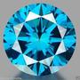 Diamante 0.48ct - Azul Vívido - Si1 - Lapidação Brilhante...