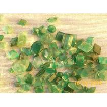 Esmeraldas Facetadas Transparentes-lote 50 Cts -p/laudo