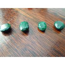 Lote De 4 Esmeraldas Naturais Lapidadas - Pedras Preciosas