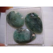 Natural Pedras Esmeralda Para Brincos E Anel