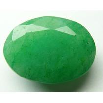 Esmeralda 100% Natural Oval Verde Alface 8.25 Cts!
