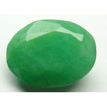 Esmeralda 100% Natural Oval Verde Alface 6.80 Cts!
