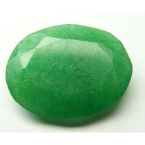 Esmeralda 100% Natural Oval Verde Alface 5.10 Cts!