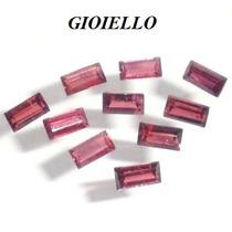 Leilão Lote 10 Gemas Rodolita Baguette Natural G736